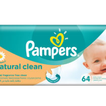 Pampers Servetele Naturally Clean , 64 bucati