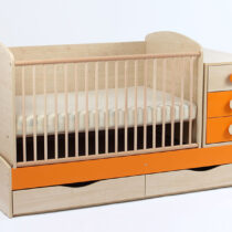 Patut Transformabil MYKIDS Silence Natur Orange Cu Leg 4058