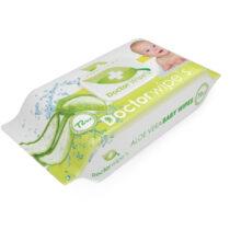 Servetele umede copii Doctor Wipes Aloe cu capac 72 Buc