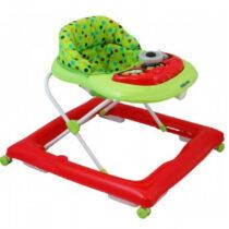 Premergator copii cu roti din silicon Baby Mix BG-1601 Red Green