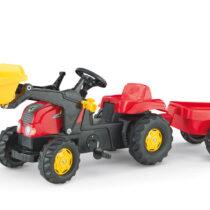 Tractor Cu Pedale Si Remorca Copii ROLLY TOYS 023127 Rosu