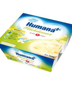 Iaurt Humana cu gust de banane de la 6 luni 4×100 g