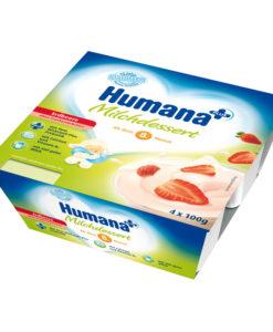Iaurt Humana cu gust de capsuni de la 8 luni 4×100 g