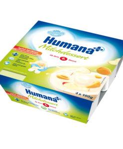 Iaurt Humana cu gust de mere si caise de la 6 luni 4×100 g