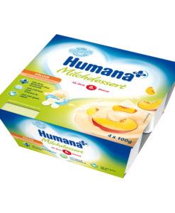 Iaurt Humana cu gust de piersici de la 6 luni 4×100 g