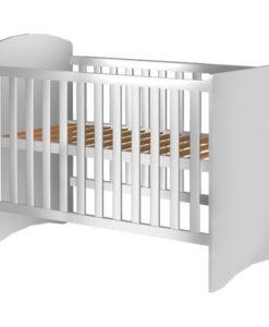 Patut copii din lemn Hubners Anne 120×60 cm alb