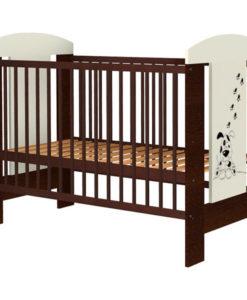 Patut copii din lemn Hubners Carolin Catelus 120×60 cm venghe