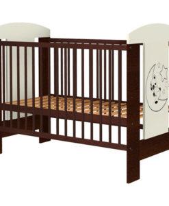 Patut copii din lemn Hubners Carolin Ursulet 120×60 cm venghe