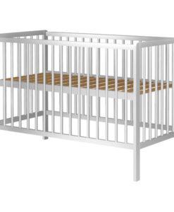 Patut copii din lemn Hubners Dominic 120×60 cm alb