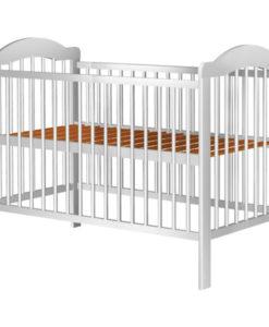 Patut copii din lemn Hubners Lizett 120×60 cm alb