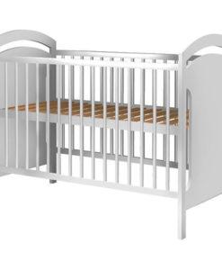 Patut copii din lemn Hubners Anita 120×60 cm alb