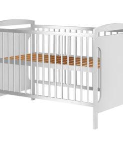 Patut copii din lemn Hubners Karly 120×60 cm alb