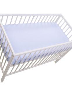 Cearceaf cu elastic MyKids Blue 120×60