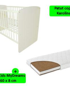Patut Klups Karolina II Alb + Saltea 8 MyKids MyDreams