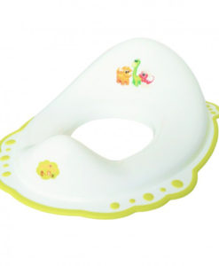 Reductor wc copii MyKids Dino Alb Lime antialunecare