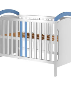 Patut copii din lemn Hubners Hansell 120×60 cm alb-albastru