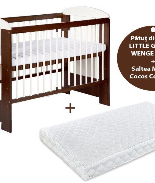 Patut KLUPS Little Giraffe Wenge + Saltea 8 MyKids