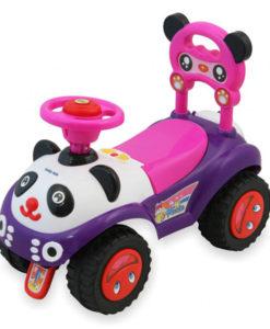 Masinuta de impins copii Baby Mix Panda ZDX7601 Pink