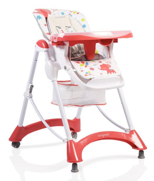 Scaun de masa copii Cangaroo Mint Rosu