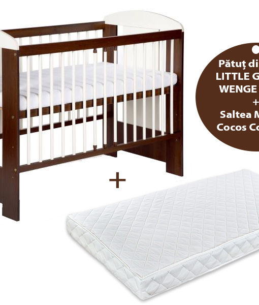 Patut KLUPS Little Giraffe Wenge + Saltea 12 MyKids