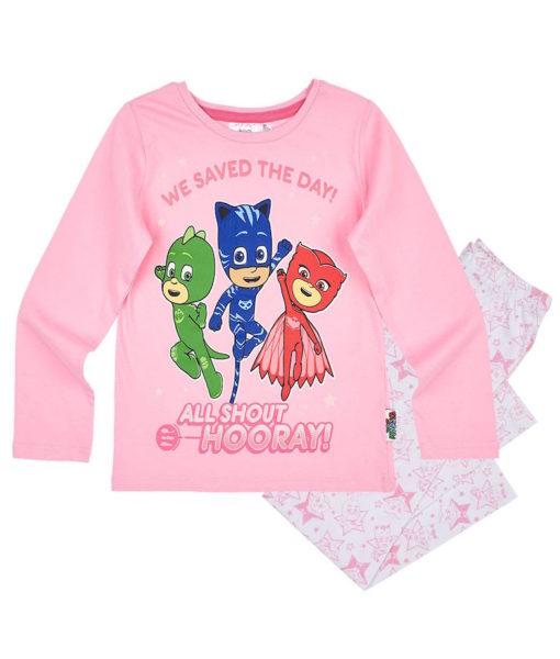 Pijama cu maneca lunga PJ Masks Roz