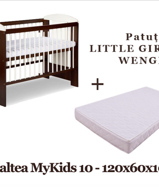 Patut KLUPS Little Giraffe Wenge + Saltea MyKids 10