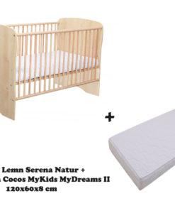 Patut MyKids Serena Natur + Saltea MyDreams II 120x60x8