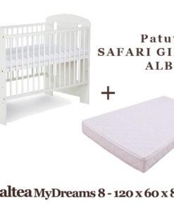 Patut KLUPS Safari Giraffe Alb + Saltea MyDreams 8