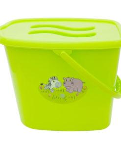 Galeata pentru scutece cu capac MyKids Zoo Verde