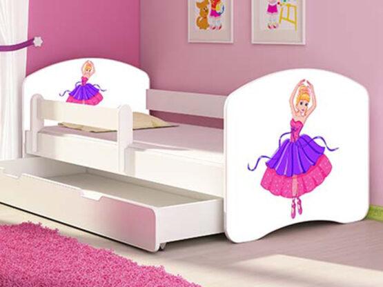 Patut Tineret MyKids Ballerina cu Sertar si Saltea MyKids 140×70