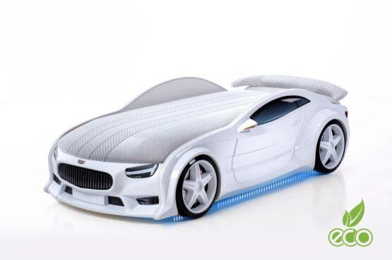 Pat masina tineret MyKids NEO Maserati Alb