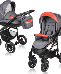 Carucior Crooner 2 in 1 – Vessanti – Red/Gray