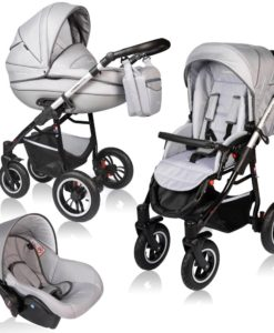 Carucior Crooner Prestige 3 in 1 – Vessanti – Light Gray