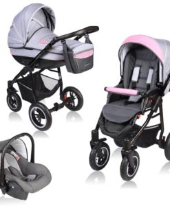 Carucior Crooner 3 in 1 – Vessanti – Pink/Gray