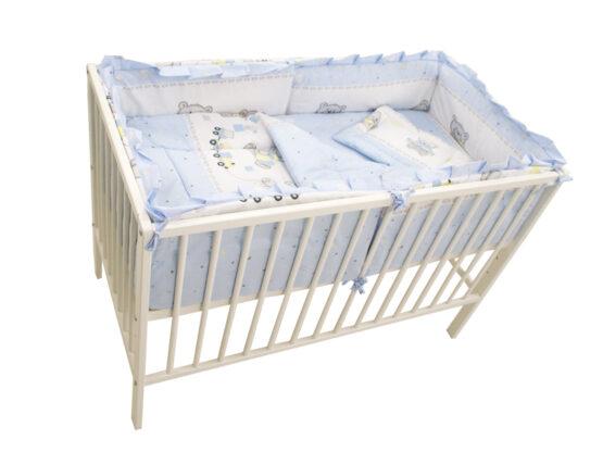 Lenjerie MyKids Teddy Toys Blue M1 4+1 Piese 140×70