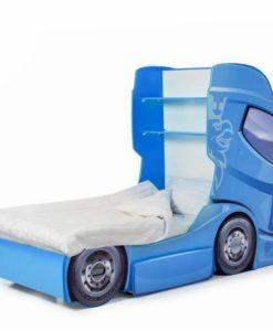 Pat camion tineret MyKids DUO SCANIA+1 Albastru