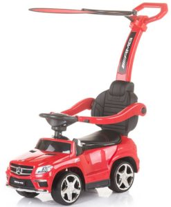 Masinuta de impins Chipolino Mercedes Benz GL63 AMG red cu copertina