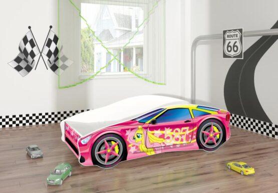 Pat Tineret MyKids Race Car 08 Pink-140×70