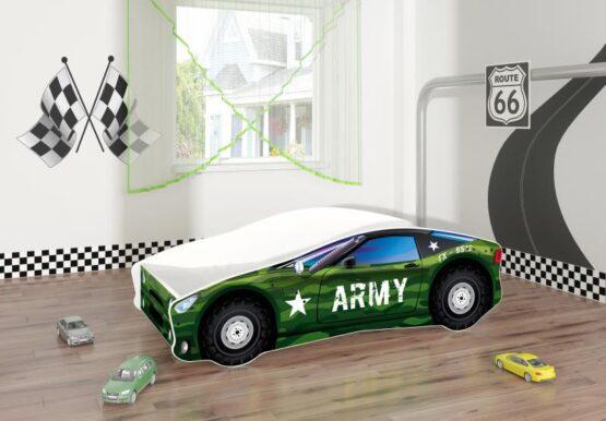 Pat Tineret MyKids Race Car 07 Army-160×80
