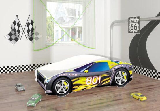 Pat Tineret MyKids Race Car 06 Black-160×80