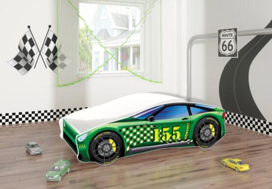 Pat Tineret MyKids Race Car 04 Green-140×70