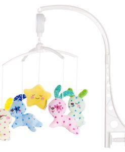 Carusel muzical pentru patut Chipolino Baby Bunnies