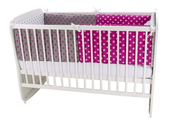 Lenjerie MyKids Colorful Stars Pink 9 Piese 120×60 cm