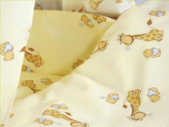 Lenjerie MyKids Mini Giraffe Crem 4+1 Piese 120×60