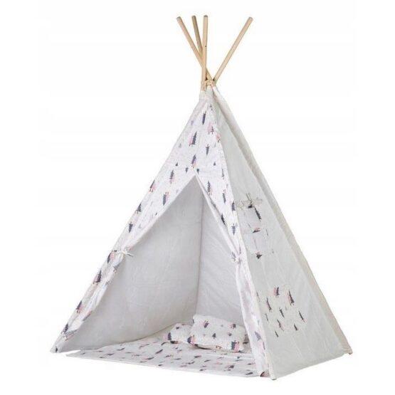 Cort de indieni TIPI-01 NEW Ecotoys cu salteluta si perne – Christmas Tree