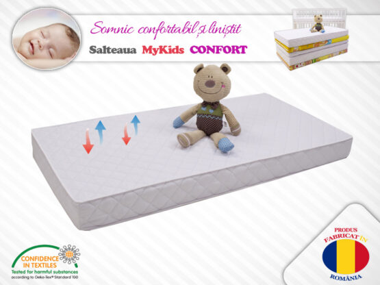 Saltea Copii MyKids Confort II 105x70x8 Husa Microfibra