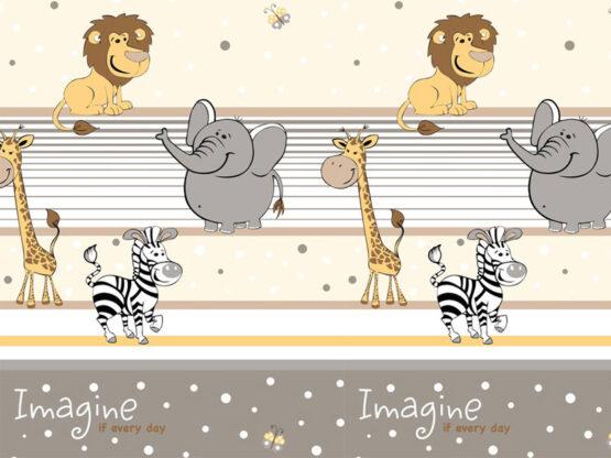 Lenjerie MyKids Imagine Safari Maro 4+1 Piese 120×60