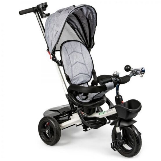 Tricicleta cu sezut reversibil Ecotoys JM-311 – Gri