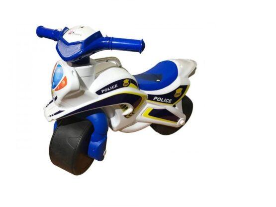 Motocicleta de impins MyKids Police Music 0139/51 Alb Albastru