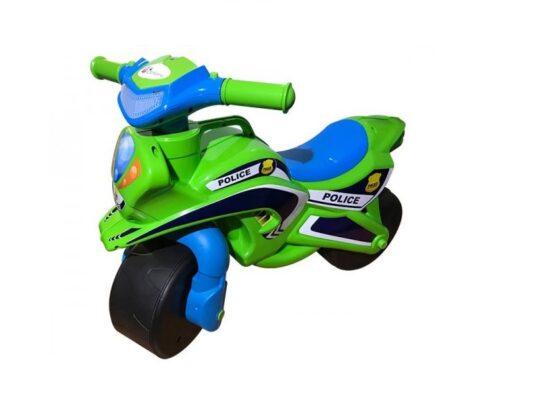 Motocicleta de impins MyKids Police Music 0139/52 Verde Albastru